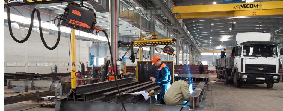 Цех завода металлоконструкций в Ярославской области